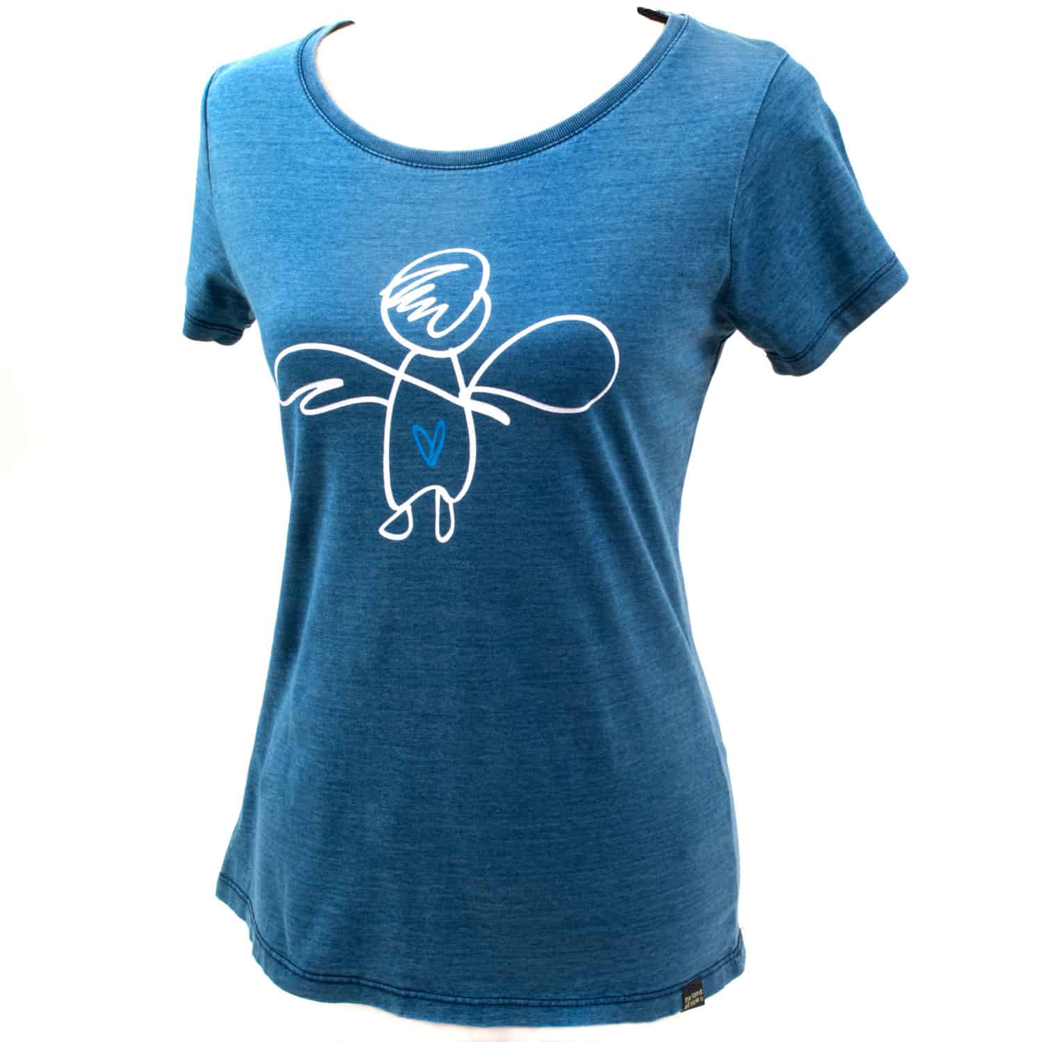 T-shirt - eco cotton - silk screen design - Give your love wings