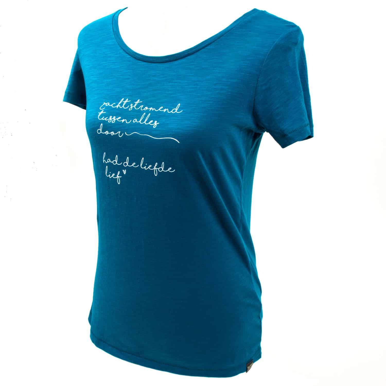 T-shirt - eco cotton - silk screen design - Poetry