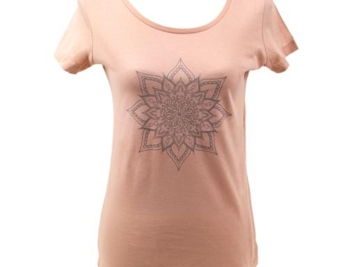 T-shirt – eco cotton – silk screen design – Mandala