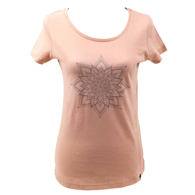 T-shirt - eco cotton - silk screen design - Mandala