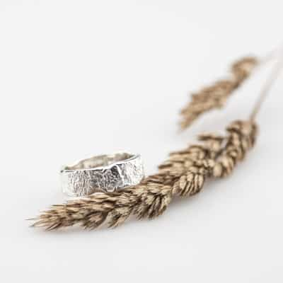 Silver organic ring handmade
